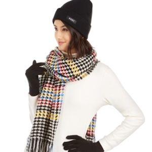 DKNY Hat, Gloves & Houndstooth Scarf Black Multi